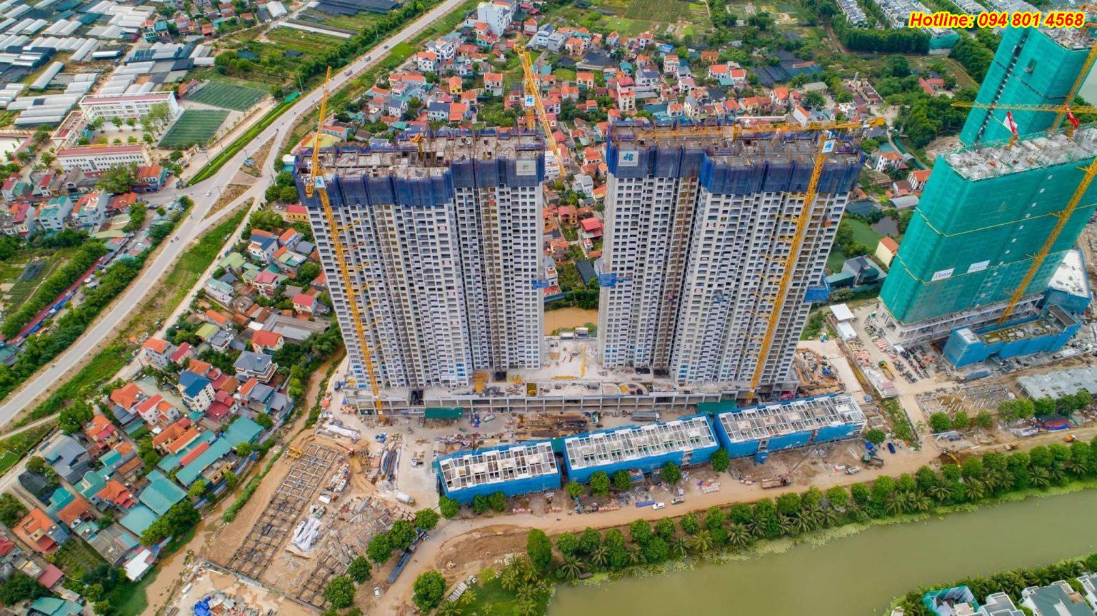 Tiến độ xây dựng chung cư Sky Oasis Ecopark tháng 7/2021